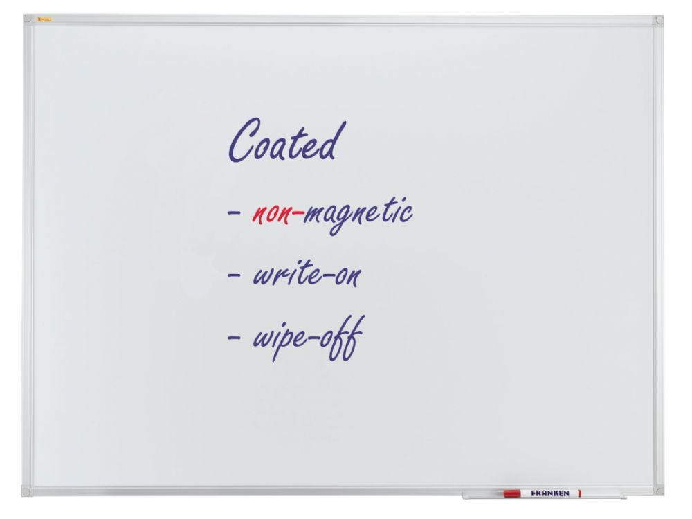 Franken Non-Magnetic Whiteboard. Landscape or Portrait in various sizes